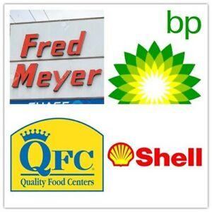 6K kroger Shell QFC BP fredmeyer fuel points VALUE $210 EXP 6/30 email delivery