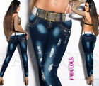 Sexy Ladies Jeans Size 10 12 14 2 4 6 8 XS S M L XL Distressed Designer Denim