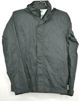 Magellan Mens Grey Full Zip Front Windbreaker Jacket Long Sleeves Hood Sz S