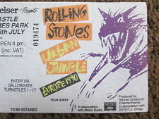ROLLING STONES EUROPE JULY 18 1990 TICKET URBAN JUNGLE NEWCASTLE ST. JAMES PARK