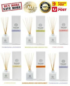 Tilley Reed Diffuser - Assorted Fragrance - Organic 75ml - 150 ml - EXP POST
