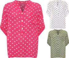 Camicia da donna multicolore in misto cotone