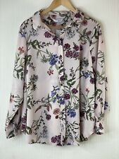 EVANS Dusky Pink Floral Relaxed Shirt UK 20 RRP £32