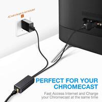 Ethernet Adapter for Amazon Fire TV Google Home Mini Chromecast Ultra 2 1
