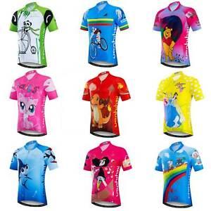 Kids' Cycling Jersey Short Sleeve Children Bike Cycle Jersey Shirts Reflective