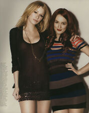 Blake Lively, Leighton Meester 9pg + cover NYLON magazine feature, clippings