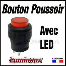 987R# bouton poussoir rouge avec voyant LED OFF - (ON)  de 1 à 10 pcs
