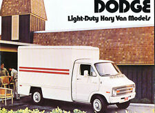 1974 Dodge Lighty Duty Kary Van Original Car Sales Brochure Catalog