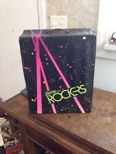 Vintage Barbie And The Rockers Fashion Doll Case Mattel 1985 Black Neon