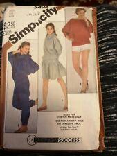 Simplicity 5494 sewing Pattern vintage stretch knit joggers rara skirt batwing