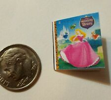 Miniature dollhouse Disney Princess book Barbie 1/12 Scale Sleeping Beauty