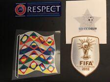 Patch Vainqueur De La Coupe Du Monde 2018 +Uefa nation league Et respect Patch .