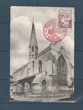 carte   1er jour  croix rouge  Angoulème  20c Fragonard  1962