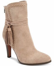 255169COACH Jessie Pointed-Toe Booties size 8M WOMEN BOOTS LT FT GRAY/LT FT G