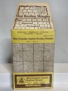Vtg MINI BRICK & STONE CO. Mini Granular Asphalt Roofing Shingles - Arctic White
