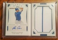 2019 PETE ALONSO RC NATIONAL TREASURES JUMBO PATCH AUTO BOOKLET #37/99 NY METS