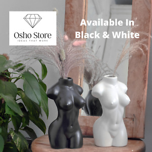 Nude Female Body Vase Ceramic Art Tabletop Flower Home Decor Pot Nordic Modern