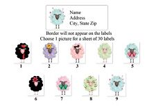 Personalized Address Labels Primitive Country Sheep Buy 3 get 1 free (bx 740)