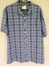 Blue Plaid O'NEILL Button Down Collared Dress Shirt.  Men's Size L. NWOT. Slick!