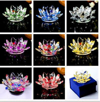 Candle Tea Light Crystal Glass Holder Lotus Flower with Spin system &Gift Box_UK