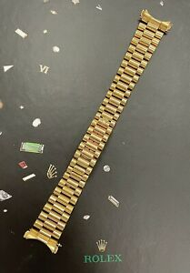 Rolex Mid-Size 31mm Datejust 18k Yellow Gold President 17mm Band Ref 68278