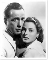 Actor Humphrey Bogart and Actress Ingrid Bergman 8 x 10 Silver Halide Photo