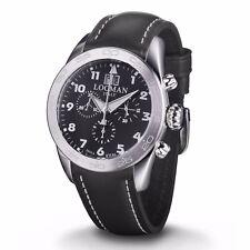LOCMAN orologio uomo cronografo isola D'Elba cinturino e quadrante nero