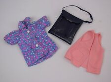 Vintage 1970s Pedigree Sindy Weekend Outfit Shirt Waistcoat And Bag 12S42