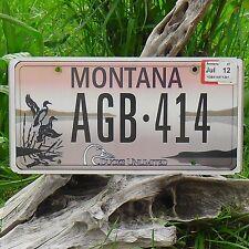 Authentique Plaque D'Immatriculation du Montana (AGB414) USA License Plate