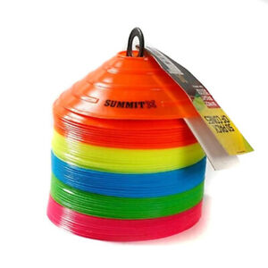 """Summit 2"""" Marker Cones 50 Pack For Football, Soccer All Sports"""