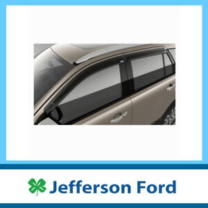 Genuine Ford Everest Ua Slimline Tinted Weathershields Front & Rear X4