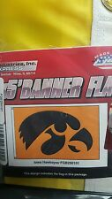 IOWA HAWKEYES 3' x 5' Flag College Banner Made in USA Tailgate Banner Hawks NEW