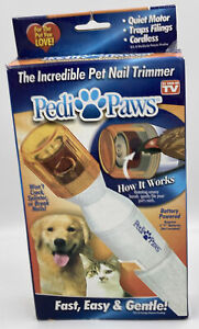 As Seen On TV Pedi Paws Pet Nail Trimmer New in Box