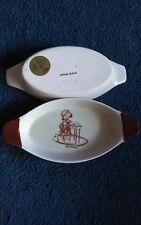Vintage Holly Hobbie Porcelain/ Hearth Dish Tray set of 2