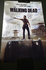 """THE WALKING DEAD Cast(x11) Hand-Signed 20x30 photo """"Norman Reedus"""" (EXACT PROOF)"""