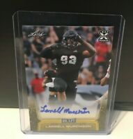 2020 Leaf Draft Yellow Border Parallel Auto Larrell Murchison North Carolina St