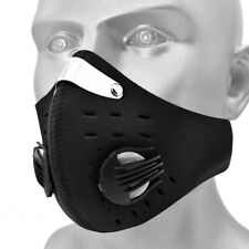 Outdoor Half Face Shield Activated Carbon Filter Mouth-muffle Dustproof Black