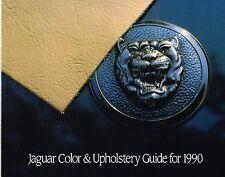 1990 Jaguar COLOR CHART / INTERIOR Guide Brochure:XJ6,XJS,VANDEN PLAS,SOVEREIGN,