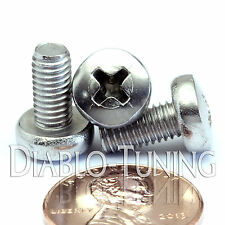 M5 x 10mm - Qty 10 - Stainless Steel Phillips Pan Head Machine Screws DIN 7985 A