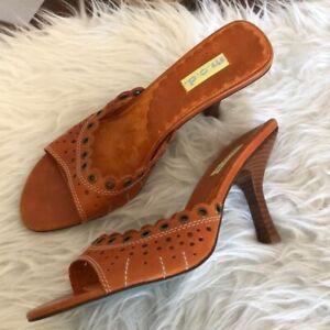 NWT M.O.D. Chestnut tan eyelet sandals