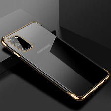 For Samsung Galaxy A51 A71 Plating Clear Luxury Rubber Case Slim TPU Back Cover