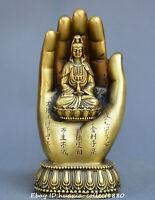 Chinese Tibet Buddhism Bronze Buddha's-hand Guanyin Kwan-yin Bodhisattva statue
