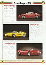 Ferrari F50, 550 Maranello, 465 GT/GTA, F355 Brochure - 1996