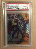 2017 MITCHELL TRUBISKY PSA 10 PANINI SELECT TRI COLOR PRIZM /199 GEM ROOKIE RC