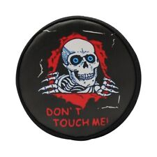 Hot Racing TRXF36117K 1/10Scale Skull Don't Touch Me Spare Tire Cover TRX-4(TOY)