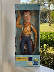 "Disney Parks Collectors Talking Woody Toy Story Pull String 16"" Figure Doll New"