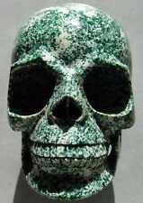 """6.0"""" 6.12LB HUGE Hamine JASPER Skeleton, Crystal Healing SKULL"""