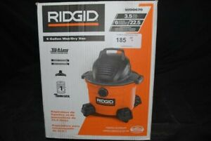 RIDGID 6 Gal. 3.5-Peak HP Wet/Dry Shop Vacuum with Filter, Hose and Accessories