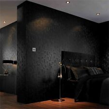 Superfresco EASY CHECKER BLACK WALLPAPER 52cmx10m Colourfast UK Made