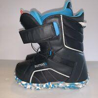 Burton Ski Boots Size 7 Imprint 1 Zipline Black Blue Euc See Pics